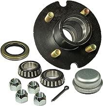 Rigid Hitch Trailer Hub Kit (BT-100-04-A) 4 Bolt on 4 Inch Circle - 1 inch I.D. Bearings