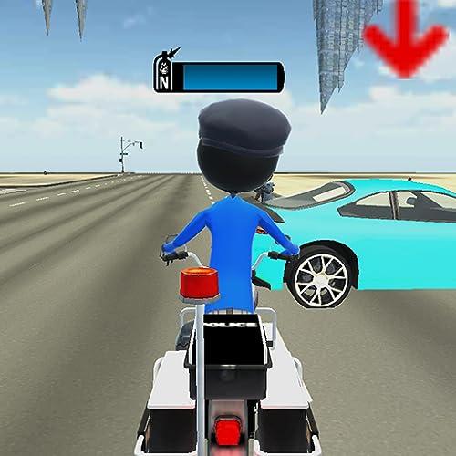 Polizei Motorrad Stickman: Driving Chase Spiel
