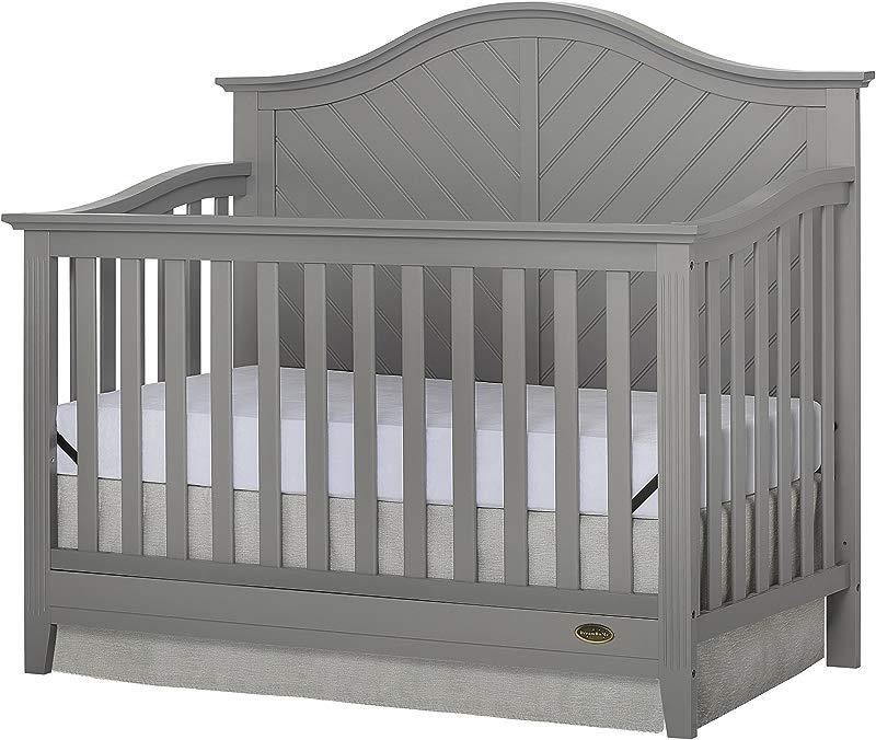 Dream On Me Ella 5 In 1 Storm Grey Convertible Crib