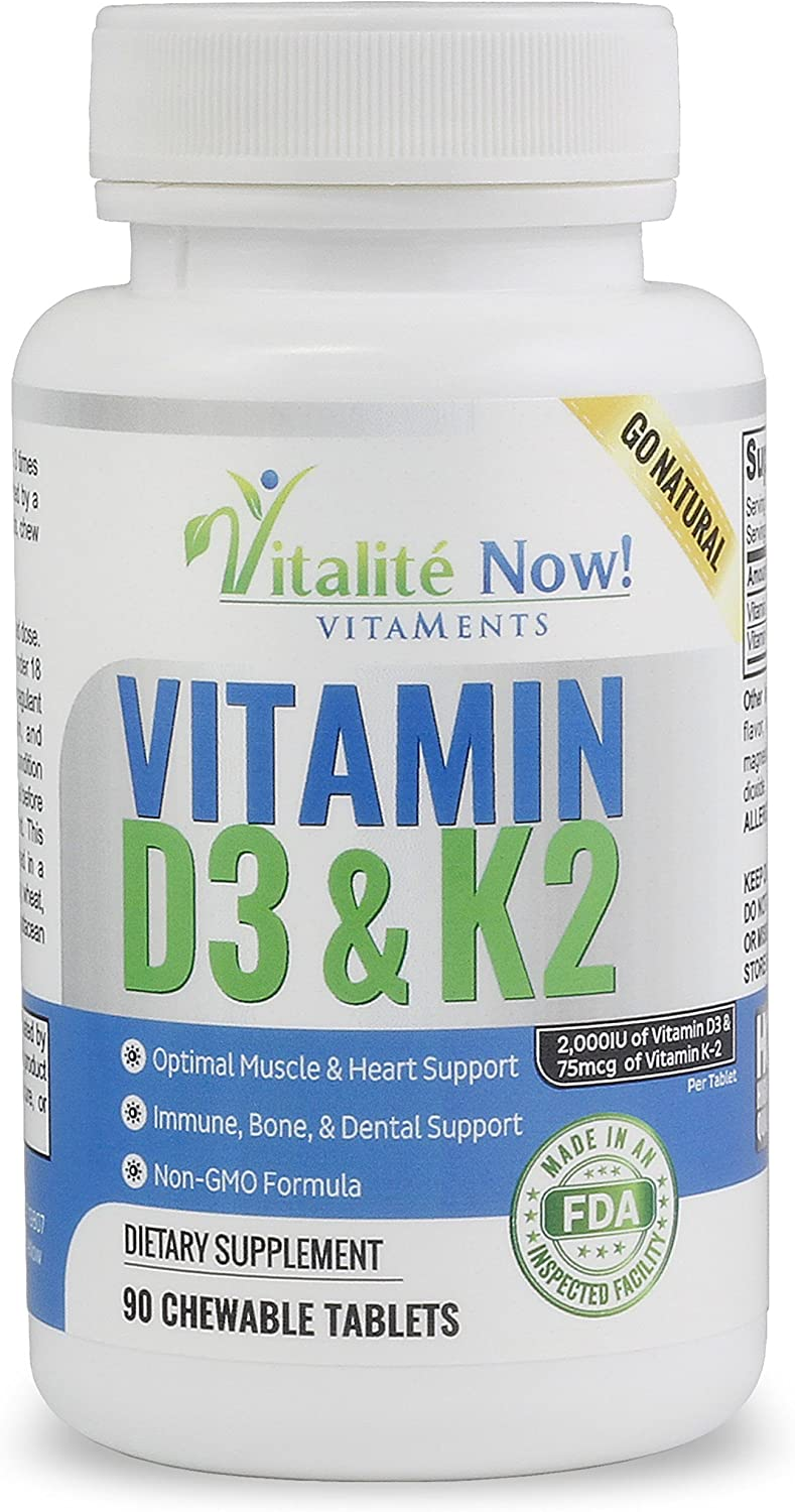 Very popular Best Vitamin D3 2000 IU + K2 Form - Optimized Absorption Max 43% OFF in
