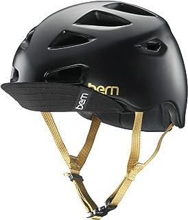 Bern 2016 Women's Melrose Summer Bike Helmet w/ Visor (Satin Black, XS/S)