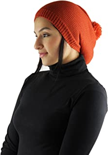Handmade Lightweight Alpaca Natural Fiber Hat in Rasta Style - Pumpkin Orange