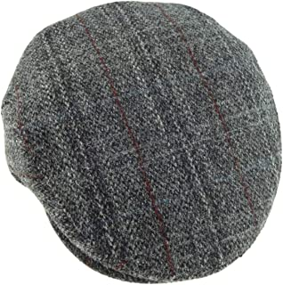 b40240791698a Harris Tweed Mens 100% One Size Elasticated Flat Cap 7 Colours Available