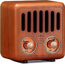 Retro Radio, Vintage Bluetooth Speaker, Greadio Walnut Wooden FM Radio with Bluetooth 4.2, Old Fashioned Classic Style, Go...