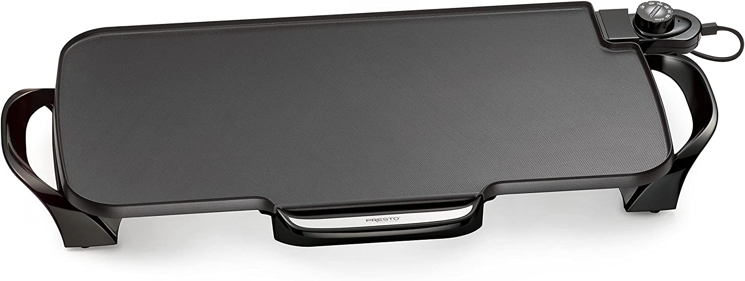 Presto 07061 22-inch Electric Griddle With Removable Handles,Black: Home & Kitchen
