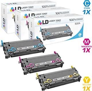 LD Remanufactured Toner Cartridge Replacement for HP 502A (Cyan, Magenta, Yellow, 3-Pack)