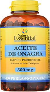 Aceite de onagra 500 mg. 400 perlas con vitamina E