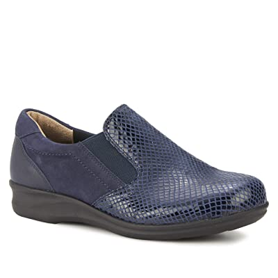 Walking Cradles Cormick (Navy Patent Snake/Nubuck/Leather) Women