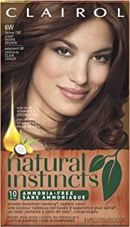 Clairol Natural Instincts, 6W / 13B Spiced Cider Light Warm Brown, Semi-Permanent Hair Color, 1 Kit