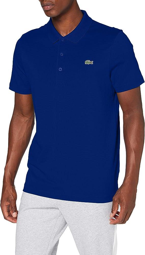 Lacoste polo maglietta da uomo a maniche corte 60% cotone 34% poliestere 6% elastan DH2884