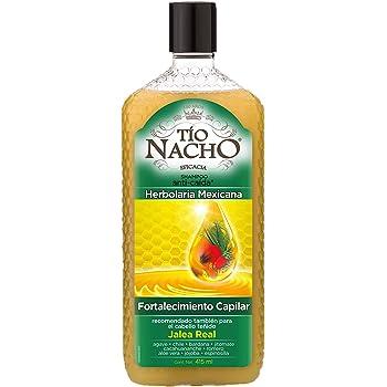 Tío Nacho Shampoo HERBOLARIA MEXICANA, Fortalecimiento Capilar, Jalea Real e Ingredientes Milenarios, botella 415 ml