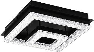 EGLO Lampa sufitowa LED Fradelo 1, nowoczesna lampa ścienna ze stali i tworzywa sztucznego z efektem kryształu w kolorze c...