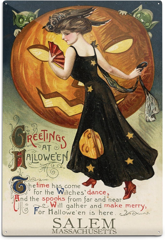 Lantern Press Salem Massachusetts Halloween Vinta New products, world's highest quality popular! Witch depot Dance