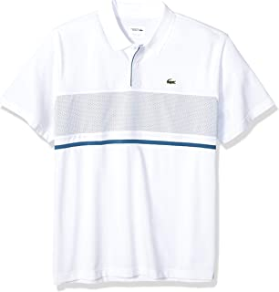 Lacoste Men's Sport Short Sleeve Mesh Block Polo