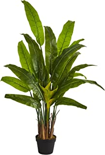 Nearly Natural 4.5' Traveler's Palm Tree Artificial Plant Green