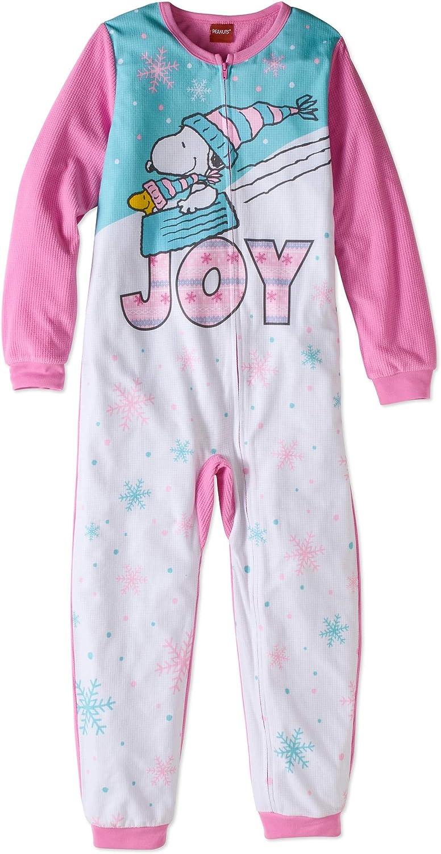 Snoopy and Woodstock Girls Blanket Sleeper Pajamas