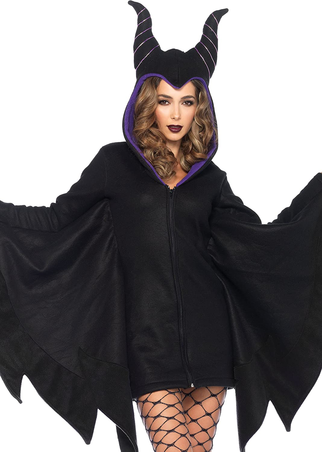 Leg Avenue Cozy Villain Maleficent Costume (Medium, Black)