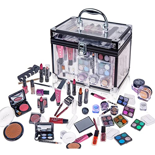 SHANY Carry All Trunk Professional Makeup Kit - Eyeshadow,Pedicure,manicure With Black Trim