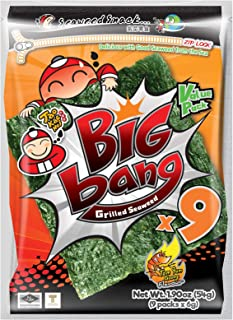 Tao Kae Noi Tom Yum Goong Flavour Big Bang Grilled Seaweed, 54 g