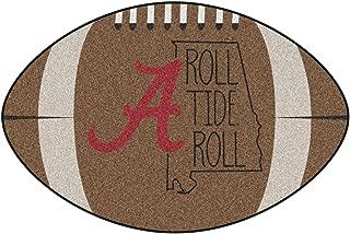 NCAA University of Alabama Crimson Tide Football Shaped Mat Area Rug