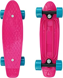 SK8MEMO 17x5 Inch Mini Skateboard with Top Design, Mini Cruiser Skateboard for Beginners with ABEC-7 Bearing and Soft PU Wheels …