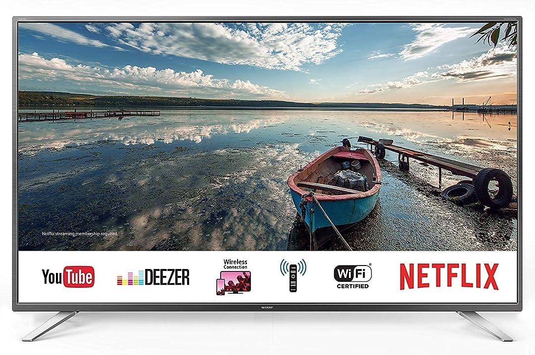 Smart tv 55 pollici sharp aquos uhd 4k suono harman kardon [classe di efficienza energetica a] LC55CUG8062