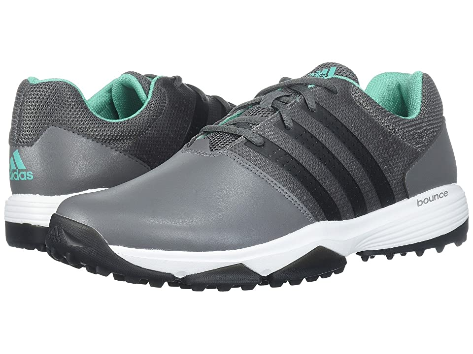 Image of adidas Golf 360 Traxion (Grey Four/Core Black/Hi-Res Green) Men's Golf Shoes