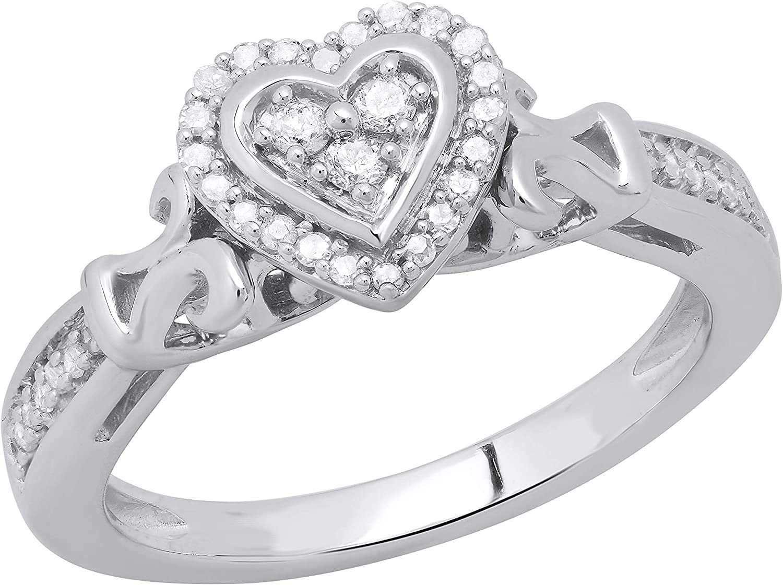 Dazzlingrock Collection 0.18 Albuquerque Mall Carat ctw Lad White Direct store Diamond Round