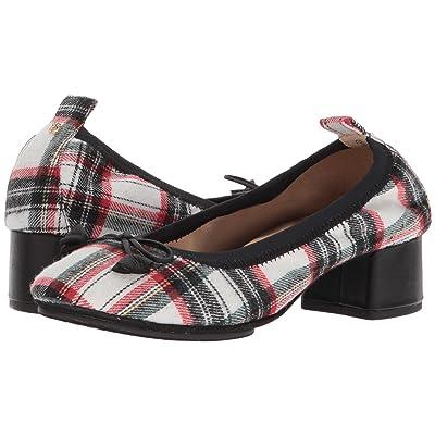 Yosi Samra Naima (White Plaid Fabric) High Heels