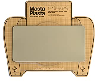 MastaPlasta Self-Adhesive Patch for Leather and Vinyl Repair, Large, Beige - 8 x 4 Inch