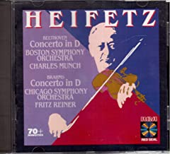 Heifetz plays Beethoven & Brahms Concertos