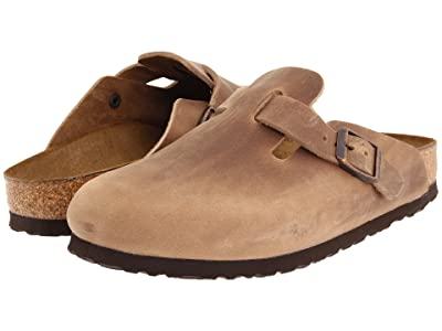 Birkenstock Boston Oiled Leather (Unisex) (Tobacco Oiled Leather) Clog Shoes