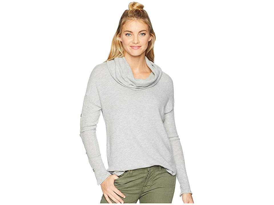 Three Dots Long Sleeve Funnel Neck Tunic (Granite) Women