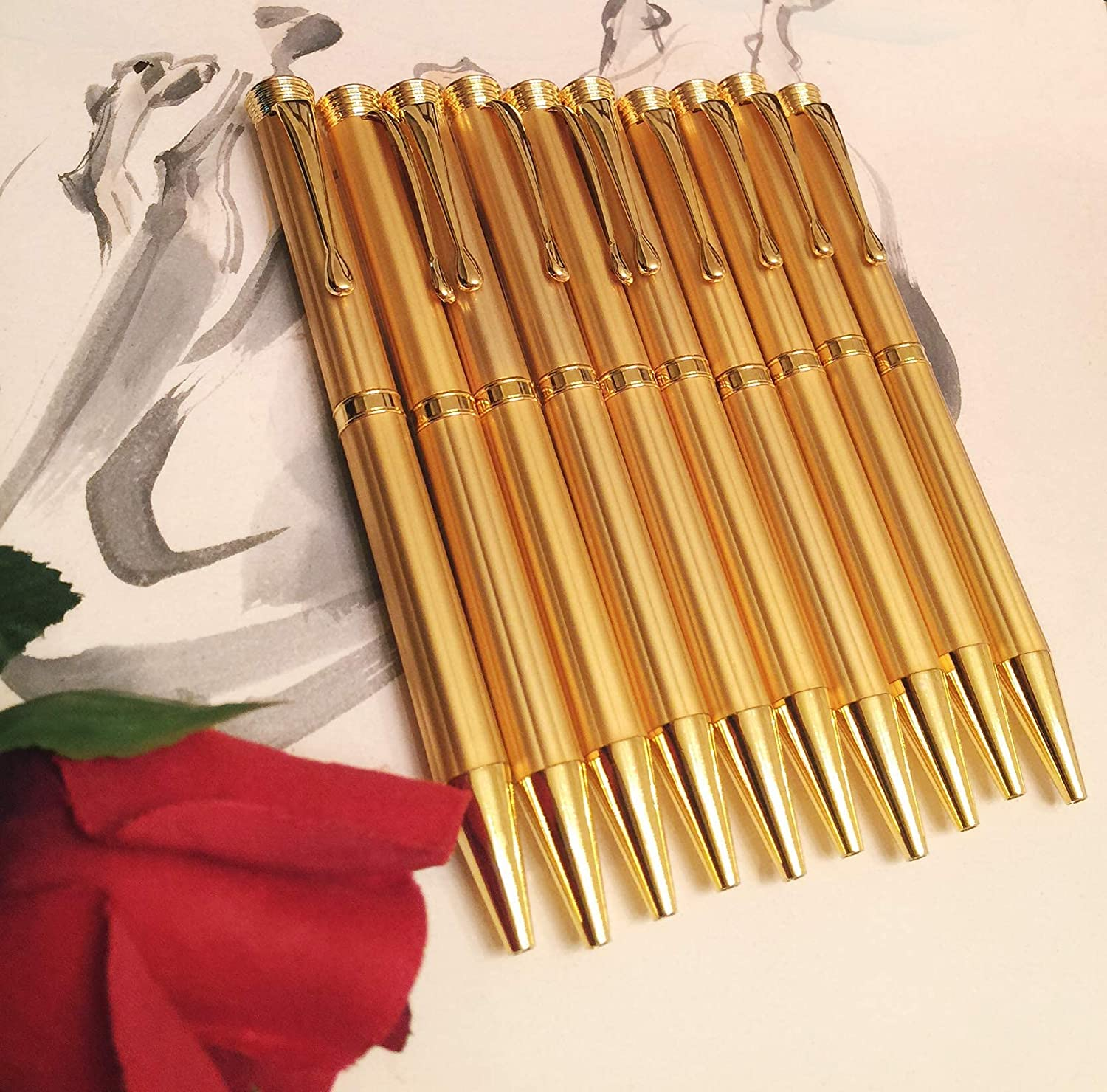 10 High-end Gold-Plated El Paso Mall Gift trust Ballpoint Pe Business Executive Pen