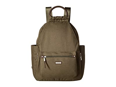 Baggallini New Classic Heritage All Day Backpack with RFID Phone Wristlet (Olive) Backpack Bags
