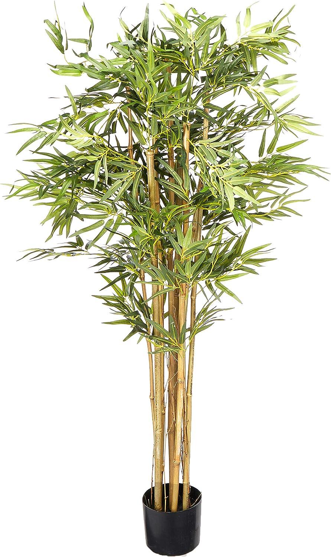 Nearly Natural 5' Bambusa Bamboo Silk in Finally popular brand Dedication 60 Trees G Artificial