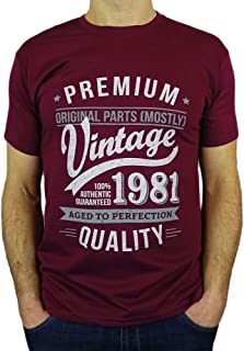 1981 Vintage Year - Aged to Perfection - 40th Birthday Gift/Present Mens T-Shirt
