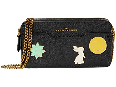 Marc Jacobs J Link Chain Continental (Black) Handbags