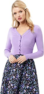 Review Women's Chessie V-Neck Long SLV Cardi Lavender