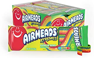 Airheads Xtremes Belts Sweetly Sour Candy, Halloween Treat, Rainbow Berry, Non Melting, Bulk Movie Theater and Party Bag, ...