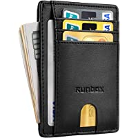 Runbox RFID Blocking Genuine Leather Minimalist Front Pocket Men's Wallet (Several Colors)