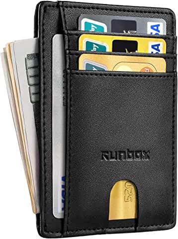 Runbox Minimalist Slim Front-Pocket RFID Leather Wallet