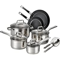 T-Fal Precision Ceramic 12-Piece Stainless Steel Cookware Set