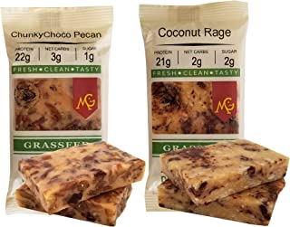 PALEO Friendly - PRIMAL Protein Bars by MariGold Bars (6 Chunky Pecan, 6 Coconut Rage)