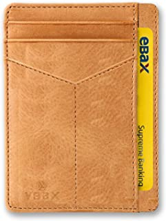 Mens Slim Wallet RFID Leather Minimalist Front Pocket Credit Card Holders