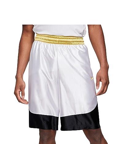 Nike Dry Durasheen Shorts (White/Black/Saturn Gold) Men