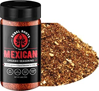 USDA Organic Salt Free Seasoning, No Salt Seasoning, Non-GMO Certified, Sugar Free Seasoning, Meal Prep Seasoning, All Natural, 100% Made in USA (Mexican, 1 Pack)