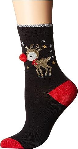 Pretty Polly - Reindeer Pom Pom Socks