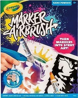 CRAYOLA Marker Airbrush, Kid Powered Airbrush, Turn Markers Into Spray Art, No Batteries Needed, Perfect Creative Art Acti...