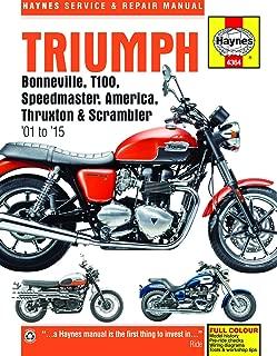 Triumph Bonneville, T100, Speedmaster, America, Thruxton & Scrambler (01-15) Haynes Repair Manual (See specific years covered) (Haynes Service & Repair Manual)